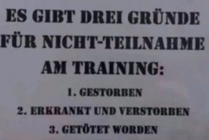 Trainingsteilnahme